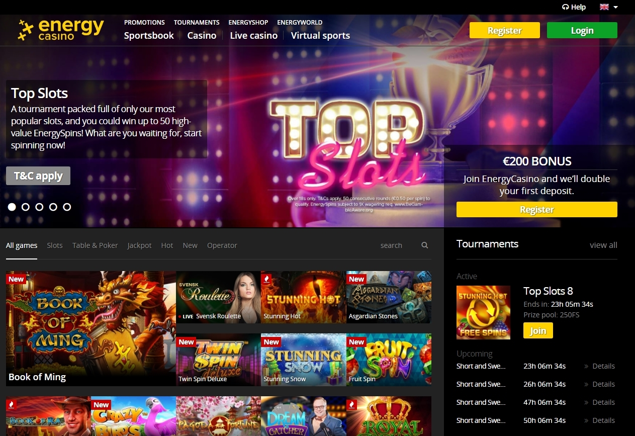 energy casino register